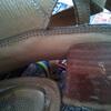 自分で簡単に靴修理、ヒールの巻革の傷を直す