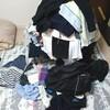 真夜中に洗濯物をたたむ。
