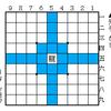 駒の動き方 「龍」