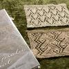 ハープサルレースの模様の試し編み