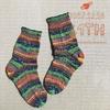 カメレオンの靴下を編みました