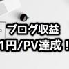 ブログ継続8ヶ月目 | 1PVあたり1円の収益を達成した理由を考えてみた