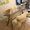 コンパクトな部屋にも置ける、大きめダイニングテーブル