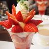 千疋屋総本店のイチゴのパフェ