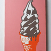 【店舗のインテリアなんかにもオススメ】ソフトクリームの絵画