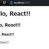 python の ローカルwebサーバ で React の勉強のためのサンプルコードを動かす