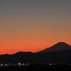 夕暮れ景色~その72『夕焼け空と富士山』