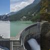 黒部ダムの季節を一枚の写真にしました