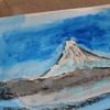 富士山〜今年最初の水彩画