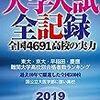 大学入試全記録2019