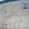 広島駅前のバス路線図