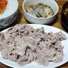 今日の食べ物 夜食に豚冷しゃぶと生牡蠣