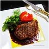 お肉が食べたい。と言うものですから|厚切りラムロースのステーキ、ミックスベリー・ソース