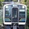 山間を走るE131系電車
