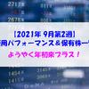 【株式】週間運用パフォーマンス&保有株一覧(2021.9.10時点) ようやく年初来プラス!