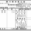 株式会社北海道日本ハムファイターズ 第15期決算公告