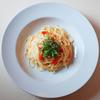 「明太子と水菜のクリームソース・スパゲティ」のご紹介