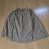 ICHI(イチ)ボイル配色二枚仕立て スカート