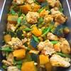 鶏挽肉とかぼちゃの煮物