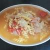 ホットクック 失敗レシピ 調味料塩だけでトマトスープパスタ(1人分)