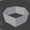 Blender 2.8 で複数の頂点の位置を一括でそろえる