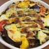彩り野菜のカレーハンバーグドリア