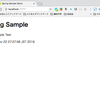 JavaのSpring bootでthymeleafを使用する