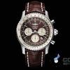 ブライトリングの航空の時間単位の計算の両は針の腕時計を追います