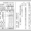 テックビューロ株式会社 第3期決算公告(新設分割広告)