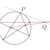 定規だけで円に接線を引く