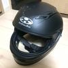ヘルメットをラバースプレーで塗装した