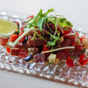 「カツオと夏野菜(水ナス、トマトなど)のマリネ風」のご紹介