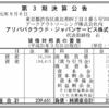 アリババクラウド・ジャパンサービス株式会社 第3期決算公告
