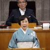 阿部裕美子県議、最後の代表質問に登壇