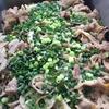 豚肉と新蓮根の青梅醤油炒め
