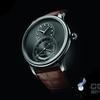 2017バーゼルの時計の真珠や宝石展とジャークの独ルーマニアのシルクは期日大きい秒針を表示します(GRANDESECONDEQUANTIニMESATIN-BRUSHED)