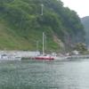 初めての港、島の越港にやってきました