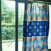 インド、バンガロールの我が家のカーテンはベッドシーツ!?