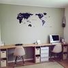 簡単DIY!壁いっぱいのシンプルな長机を作ってみた!