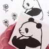 パンダ手ぬぐい 「花畑」