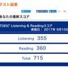 【結果発表】TOEIC L&R Sep 10,2017