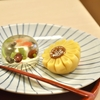 豊洲の「茂助だんご」で上生菓子(ひまわり、金魚)。