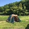 庭キャンプでおうち時間を楽しむ!コールマンのテントを久しぶりに設置&レビュー♪昼は外でホットプレート焼き肉( ^∀^)