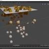 Blender 2.9で指定の色変化が起こるパーティクルを作成する