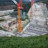 川上ダム建設現場