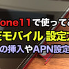 楽天モバイルでiPhone11を使う!SIMカードの挿入やAPN設定方法を詳しく紹介!