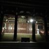 夜の本門寺・五重塔に静寂が、、
