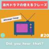 Did you hear that? 意味&使い方解説 【海外ドラマの使えるフレーズ#20】