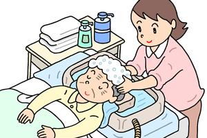寝たまま洗髪する方法