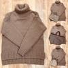 2020秋冬ファッション・ブラウン系ニット購入。
